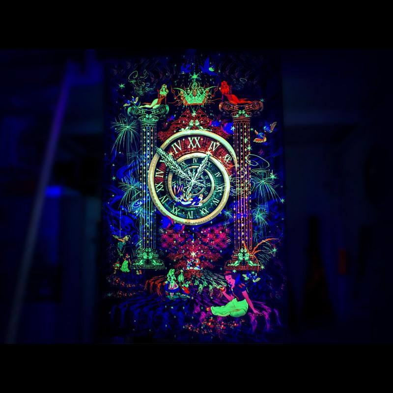 UV psytrance backdrop «Time To Burn»