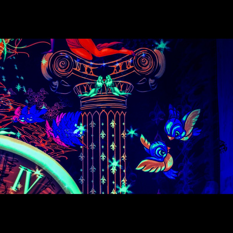 UV psytrance backdrop «Time To Burn»