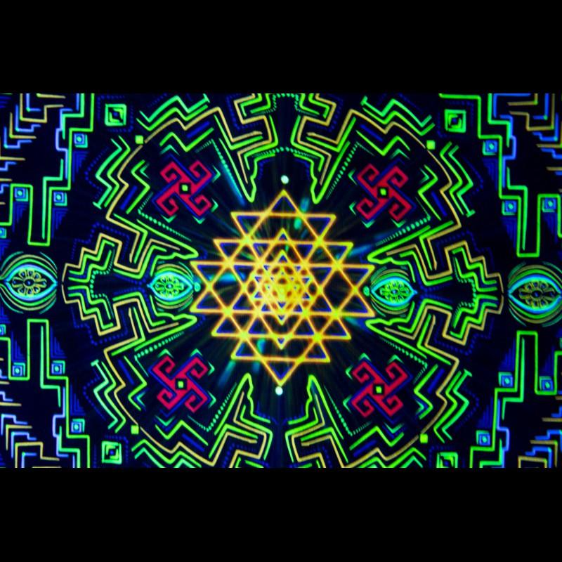 Fractal painting «Sry Mandala»