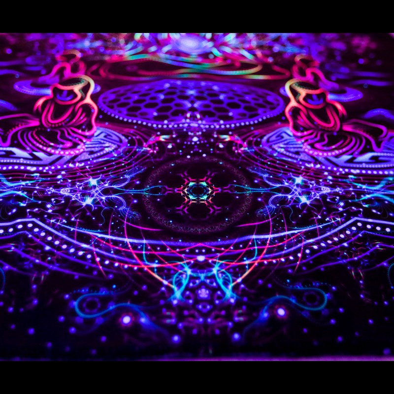 "Fractal UV-active Art Print ""Spiritual Gathering"""