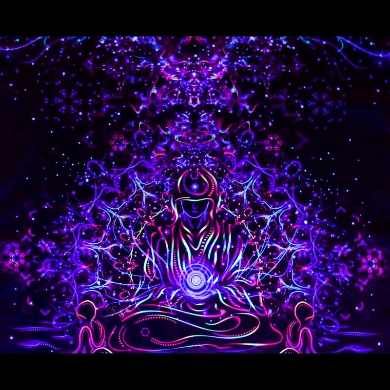 "Fractal UV-active Art Print ""Spiritual Gathering"""
