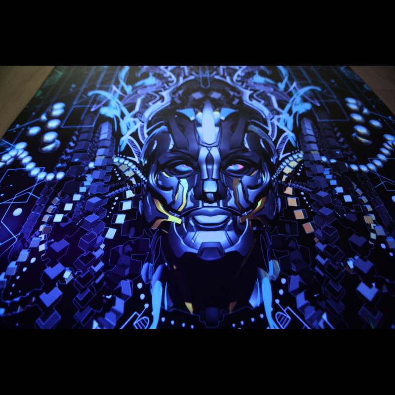"Spiritual Wall UV-active Hangings ""Fragments of awakening"""