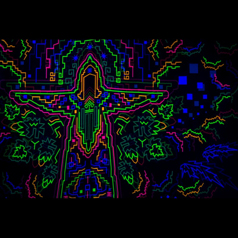 Trippy Wall Art DMT «Santa Madre»