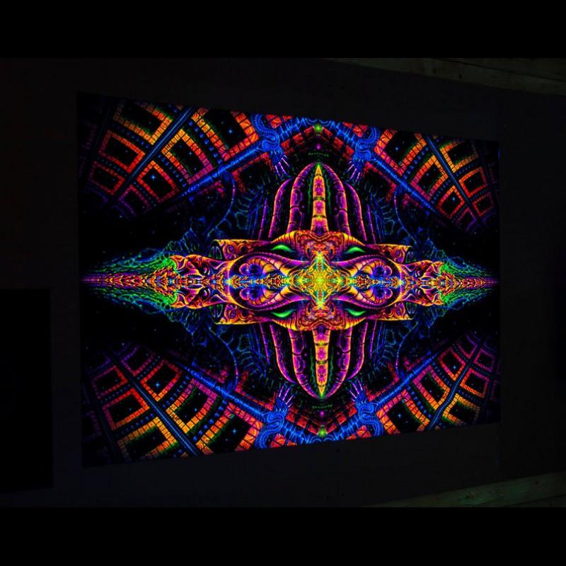 Trippy Blacklight Active Backdrop «Vajraforming»