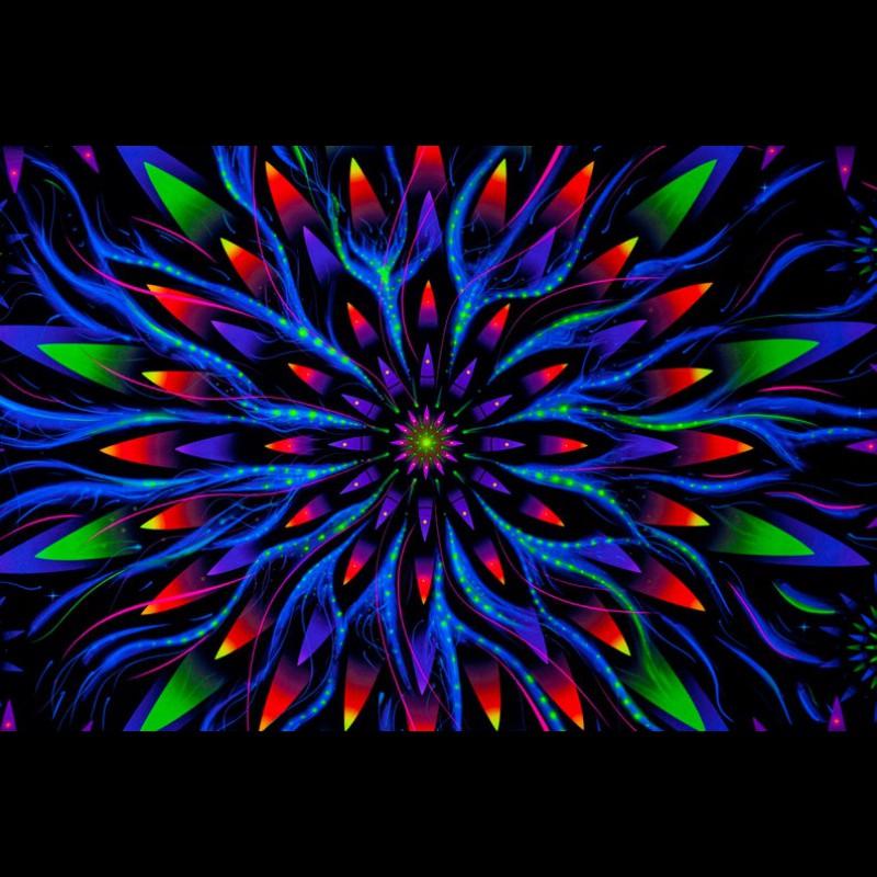 Mandala Yoga Tapestry «Flower of Space Energy»