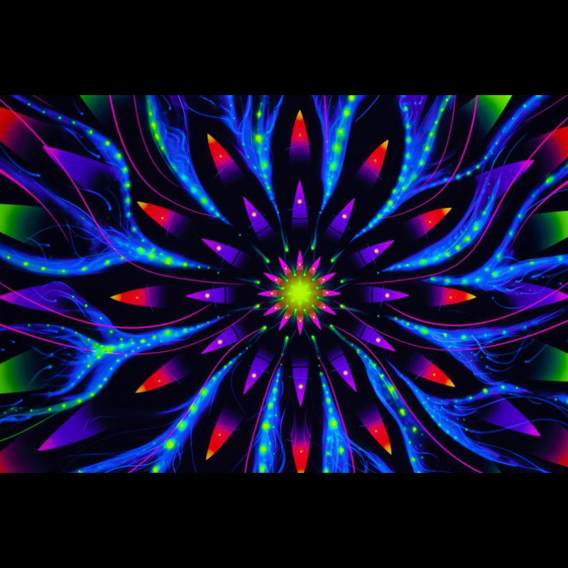 Spirutual Visionary Art «Flower of Space Energy Horizontal»