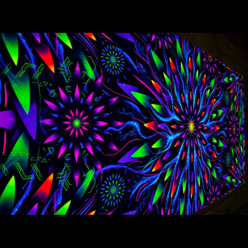 Spirutual Visionary Art «Flower of Space Energy Horizontal»