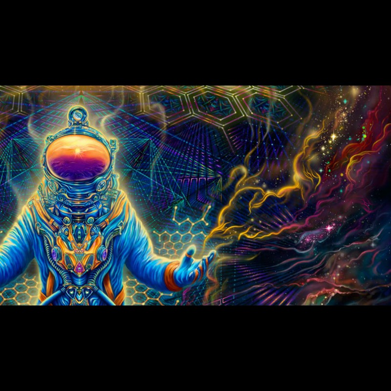 Trippy Psychedelic Wall Art «Astronaut»