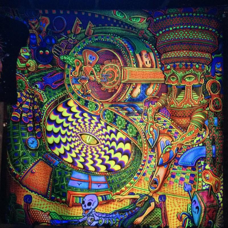 Spiritual Trippy Wall Art «Enter The Void»