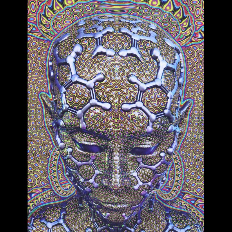 Psychedelic Wall Art «Micro Macro»