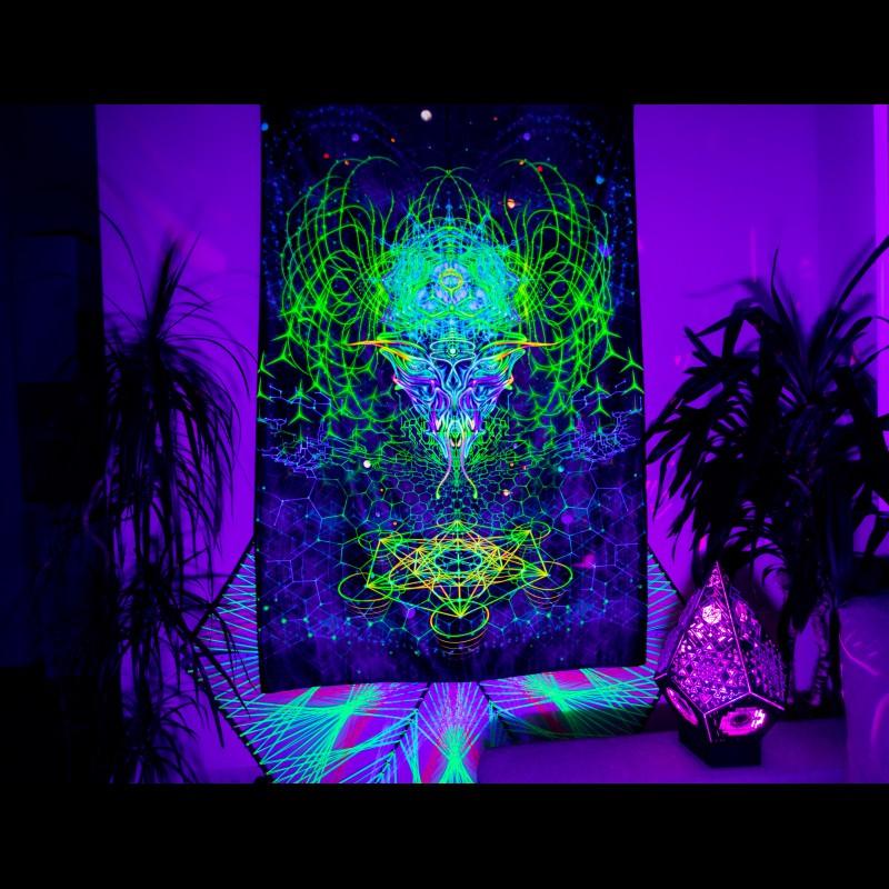 """Trippy mushroom UV-backdrop """"Alien Mind"""""""