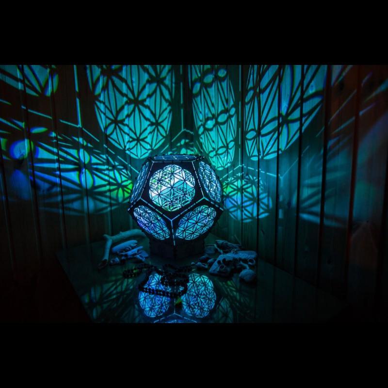 "Sacred Geometry room deco lamp ""Flower of life reincarnation"" night light"