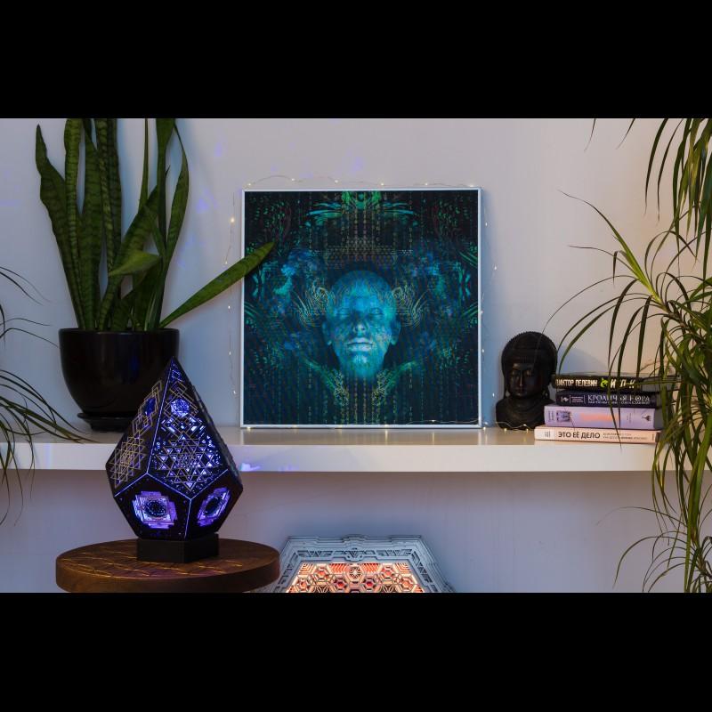 Lenticular Meditation Wall Art Picture «Spirit molecule»