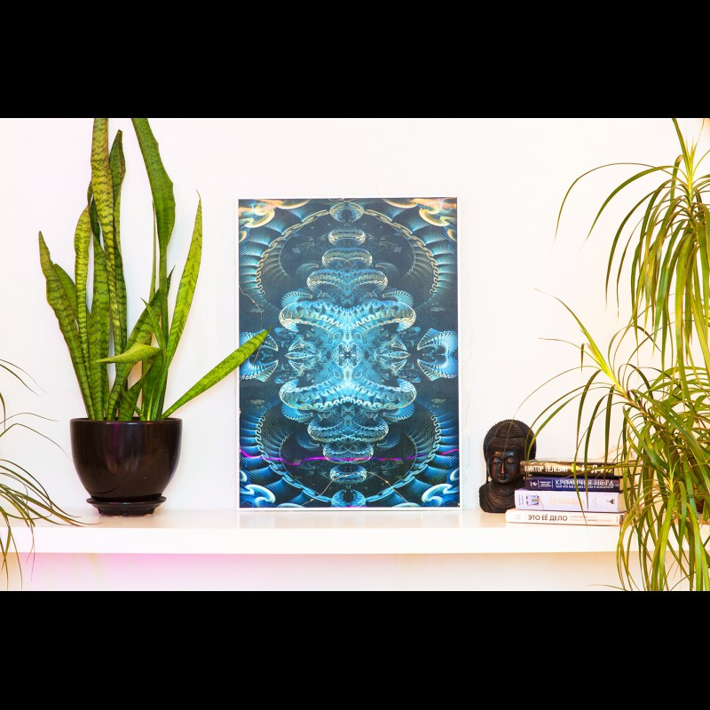 Psychedelic Lenticular 3D Painting «Trimurti»