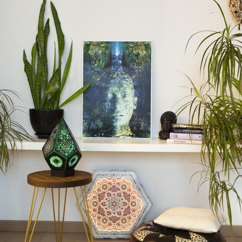 Multidimensional Lenticular Esoteric 3D Picture «Brahma temple»