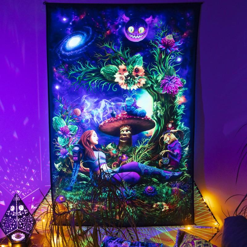 "Acid trippy poster ""Cyber Alice""."