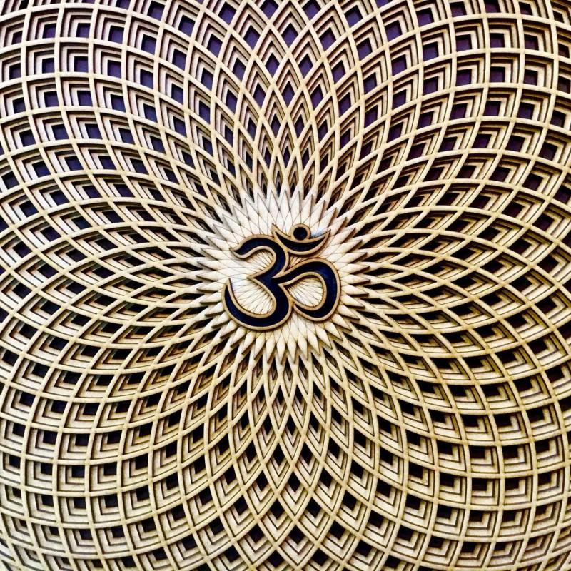 """Spiritual Wall Art Sacred Geometry """"Sahasrara"""", 4 layers"""