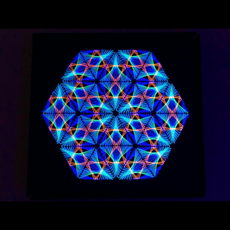 String art mandala, Thread Art, Spiritual painting «Look Into Infinity»