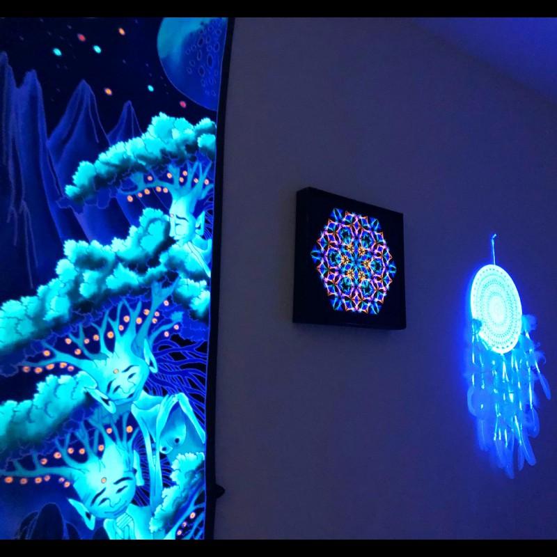 String art mandala, Thread Art, Spiritual painting «Look Into Infinity»