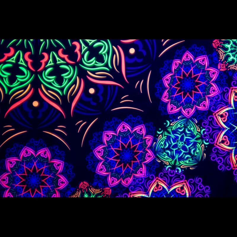 "Trippy mandala tapestry ""Baba Nam Kevalam"""