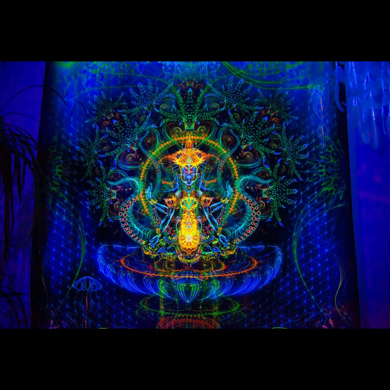 "glow in the dark spiritual poster ""Shri Vishnu"""