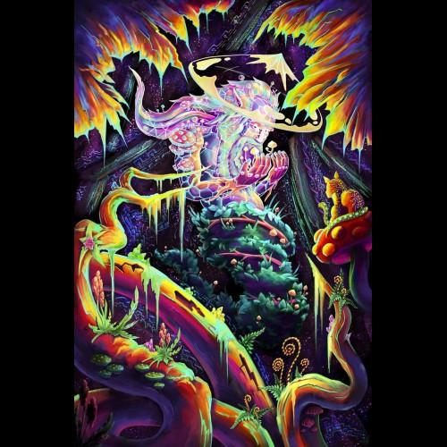 Mushroom blacklight tapestry «Mushroom Spirit»