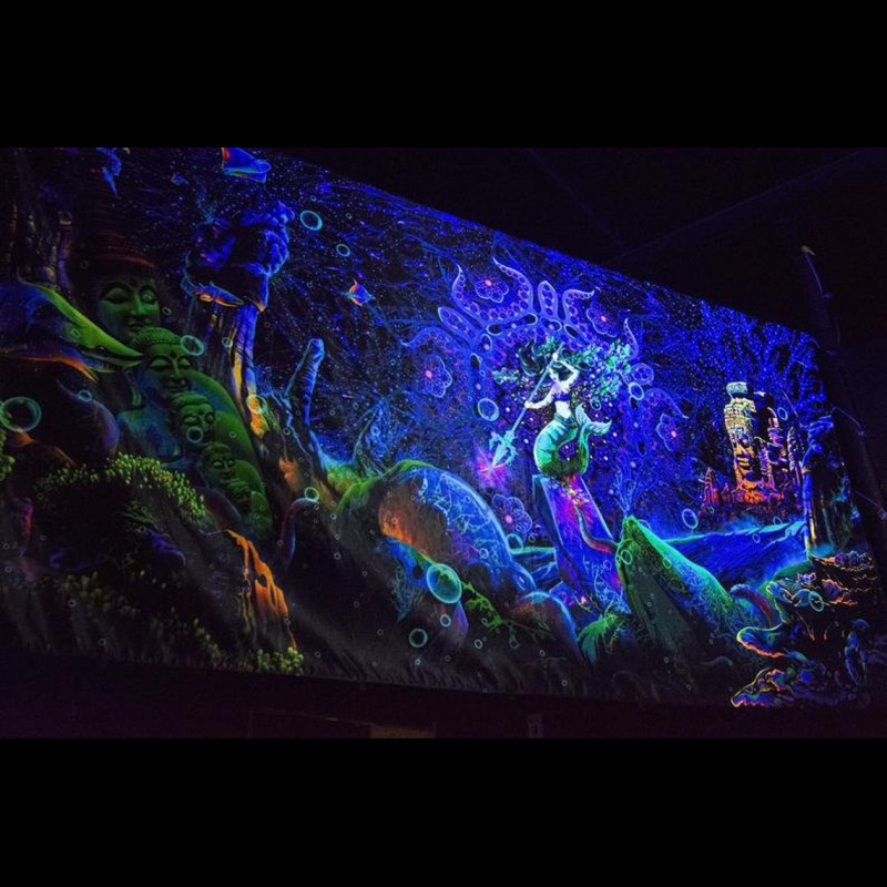 "meditation glow in the dark poster ""Underwater Kingdom"""