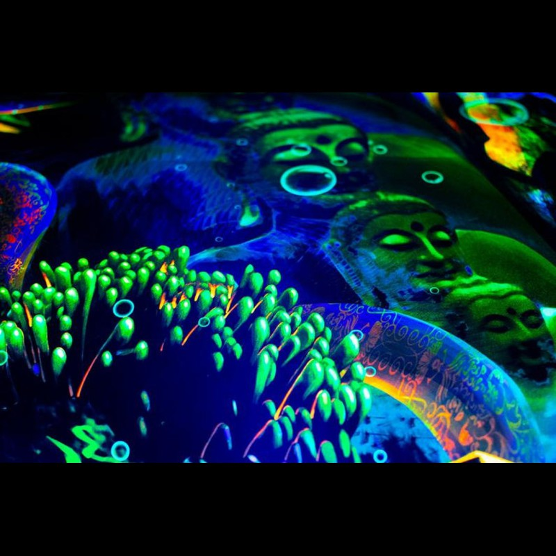 "meditation glow in the dark poster ""Underwater Kingdom"""