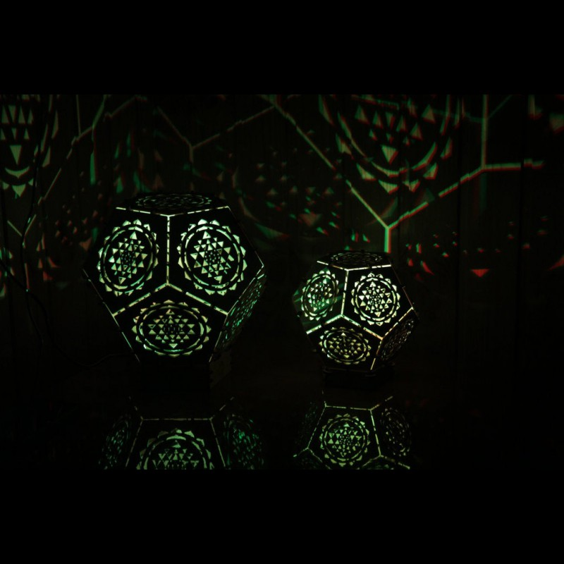 "Wooden 3D LED lamp ""Sri Yantnra"" night light"