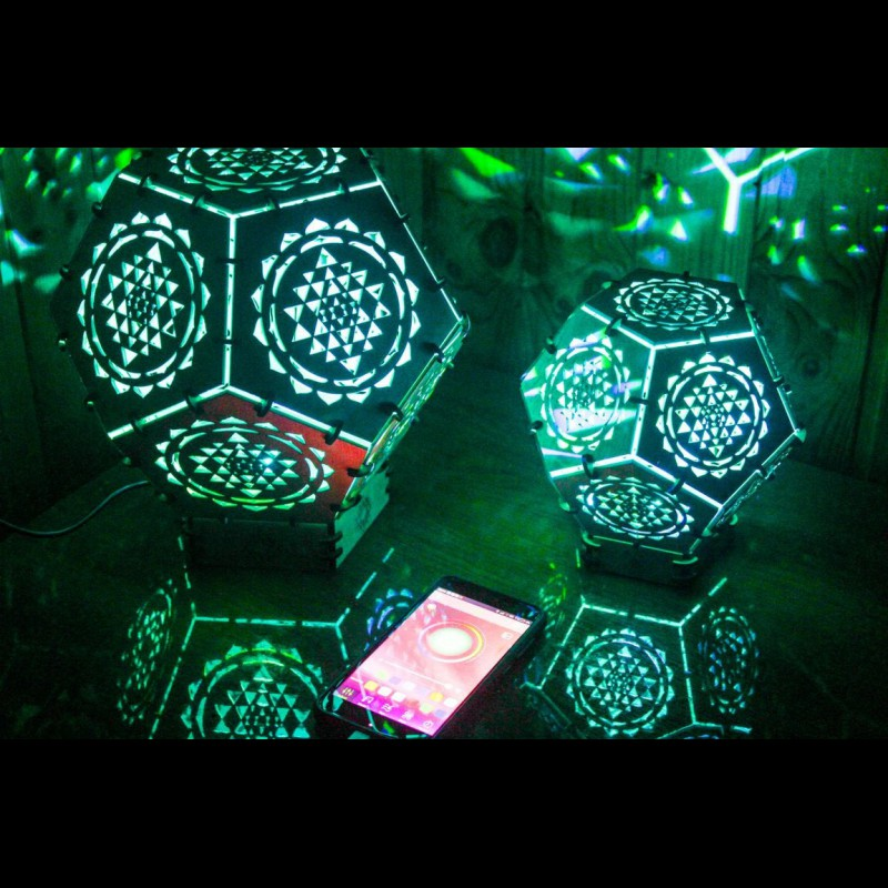 "Wooden 3D LED lamp ""Sri Yantnra"" night light"