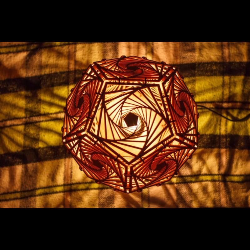 "Decorative wooden LED lamp ""Spiral"" night light"