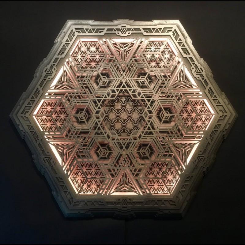 """Bohemian Lamp Wood Light """"Navi"""", 5 layers"""