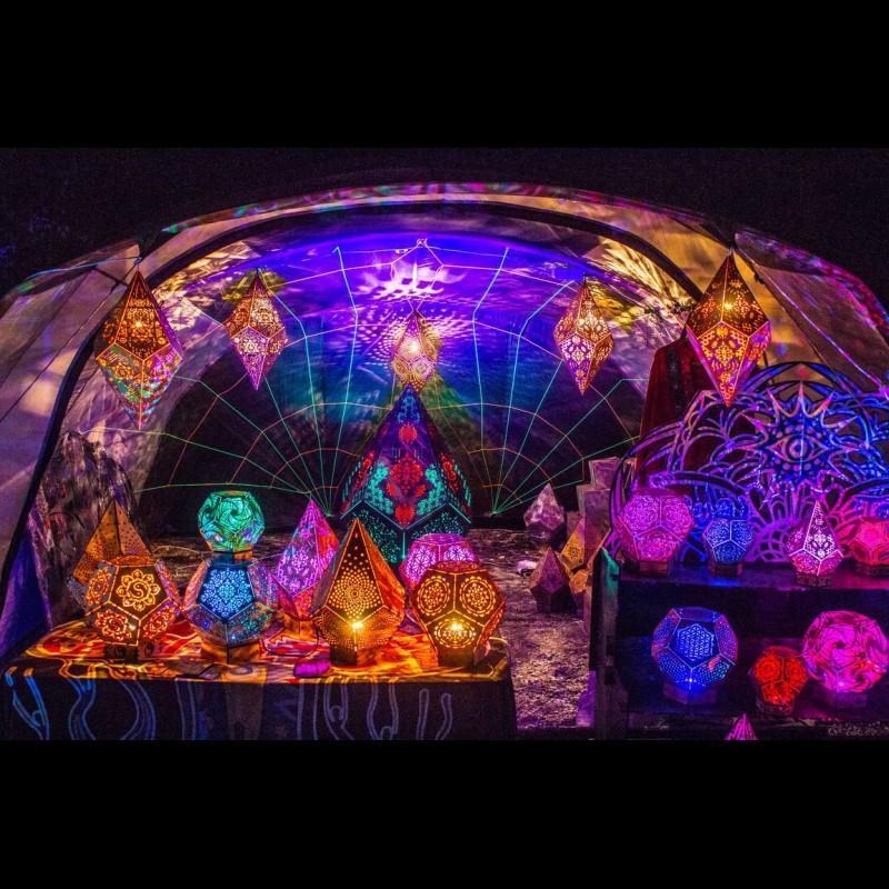 "Wooden LED lamp ""Crystal Power of Spirits"" night light"