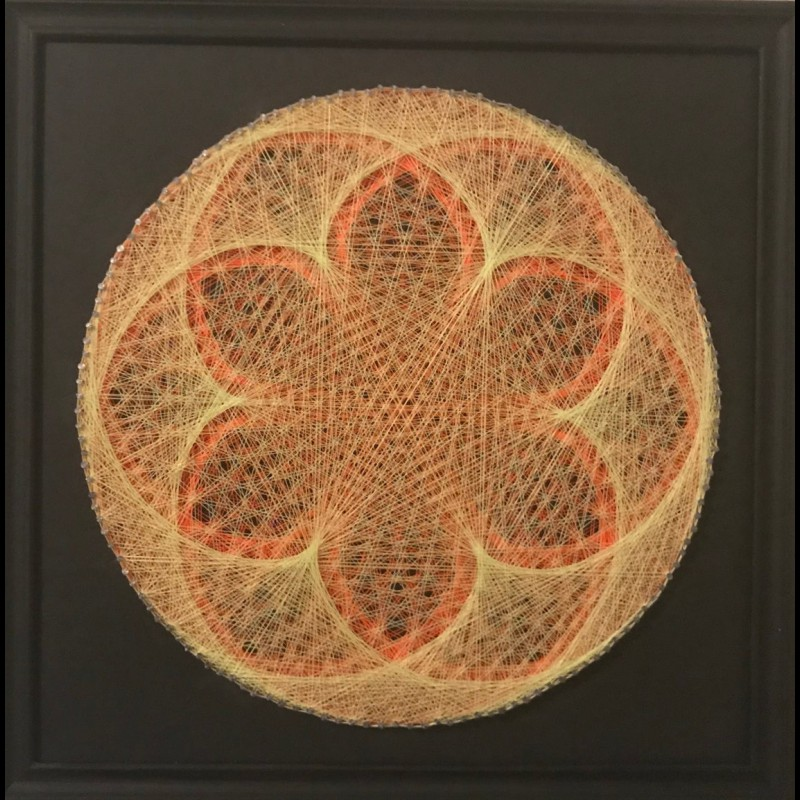 "Sacred Geometry String-Art ""Sun Seed"""