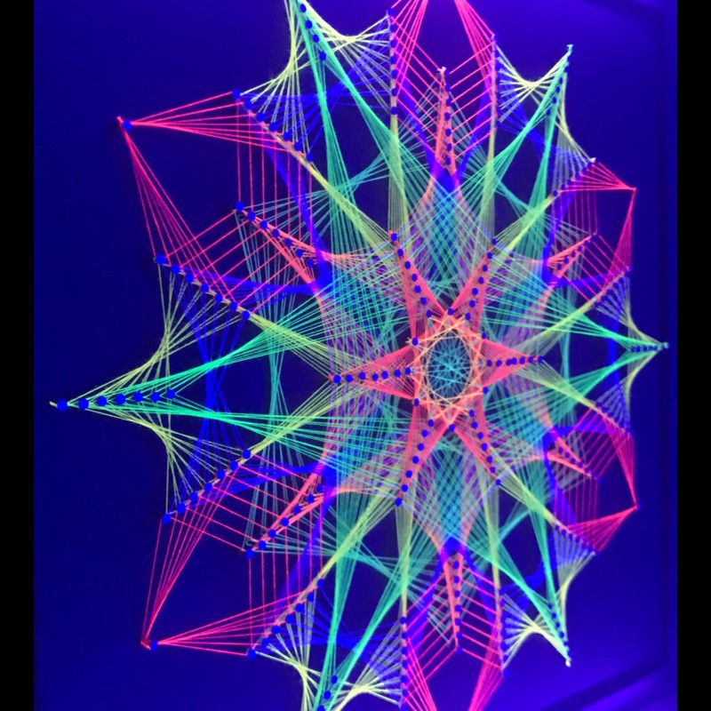 "Psychedelic wall décor Sacred Geometry Art ""Inner Space"""