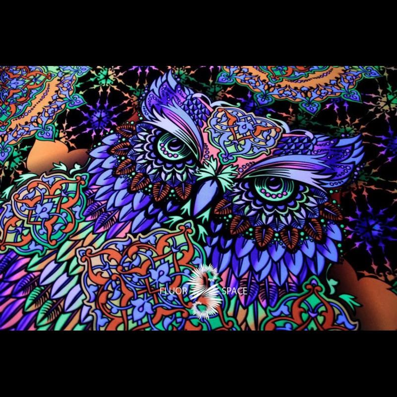 "Home Décor Hippie Cushion  ""Wise Owl"""