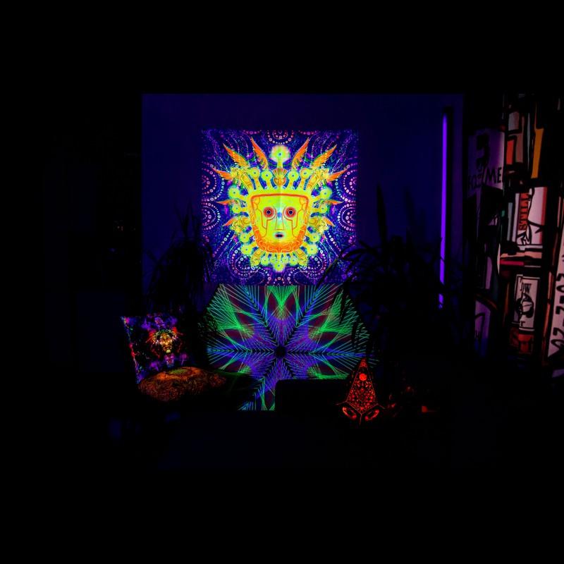 "uv festival psy trance art ""Virakocha"""