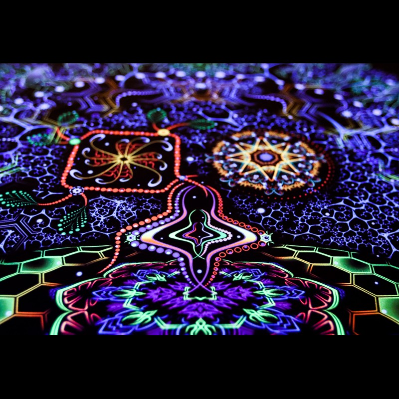 "psytrance Trippy fluorescent decorations ""Evolution"""