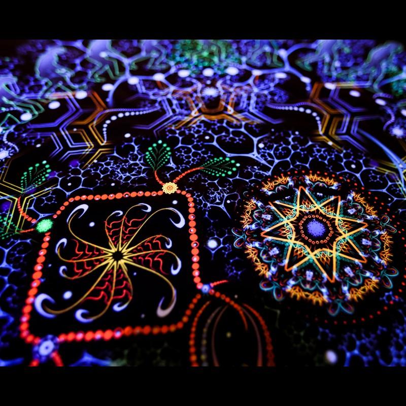 "psytrance Trippy fluorescent decorations ""Evolution"""