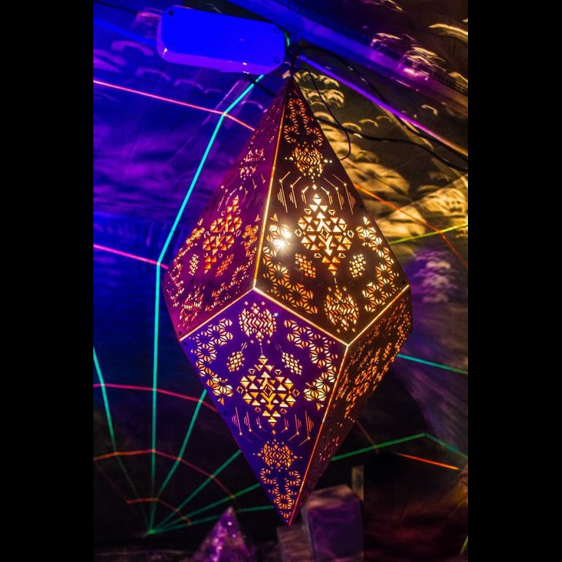 "Pendant Lamp ""Power of Spirits"" psyhodelic decor night light"