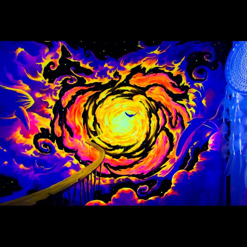 "fluorescent hippie decorations  ""Trip to Nebula"""