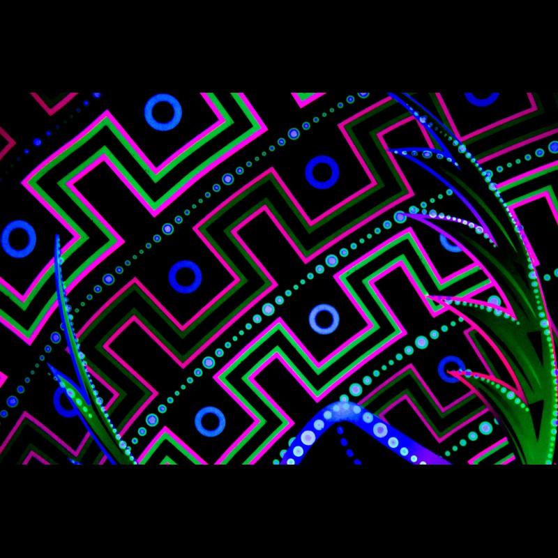 "psytrance blacklight fractal décor ""Magic Leopard"""