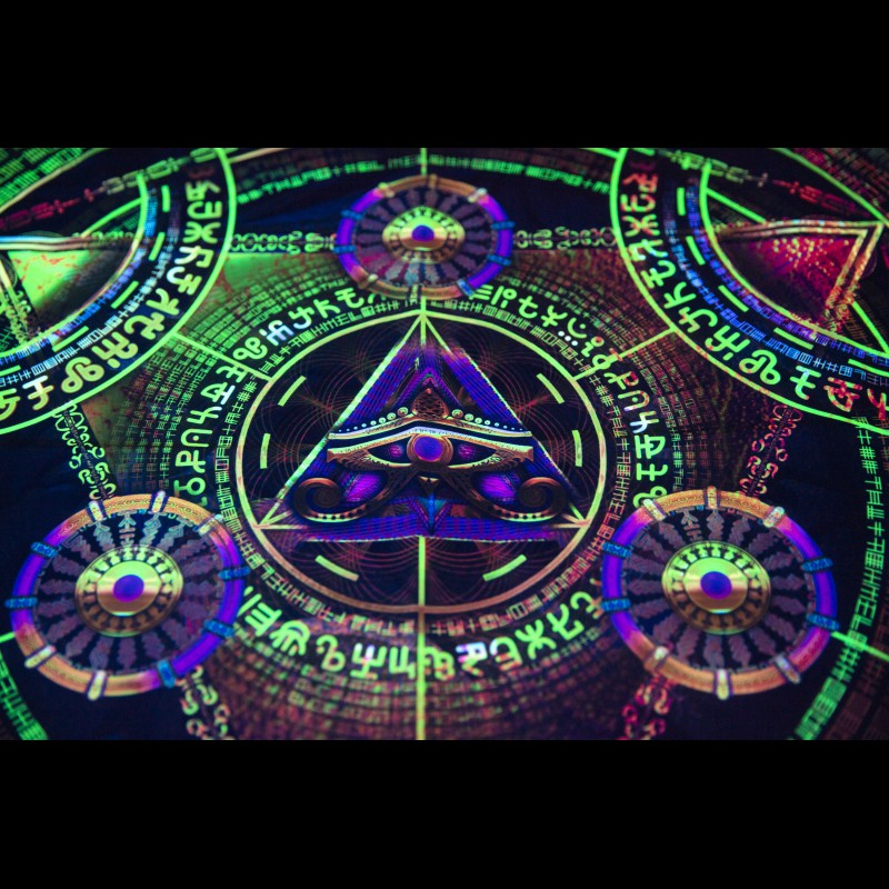 Psychedelic UV-active painting «Arcane Opulence»