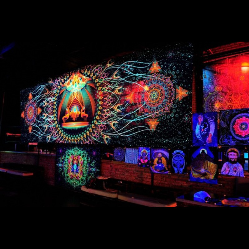 Mystical psychedelic tapestry «Star Temple»