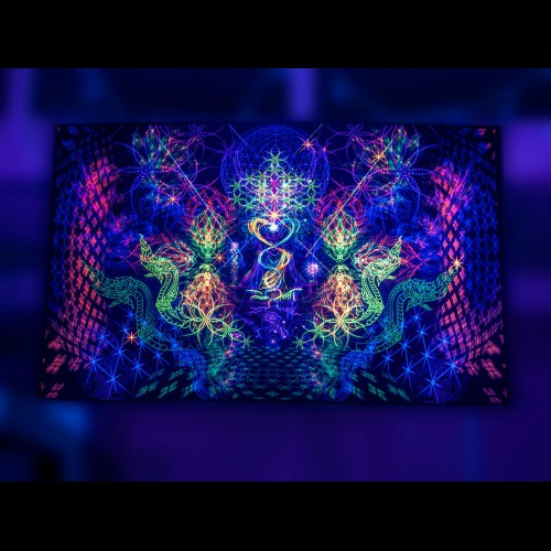 Psychedelic meditation tapestry «Thai Chill»