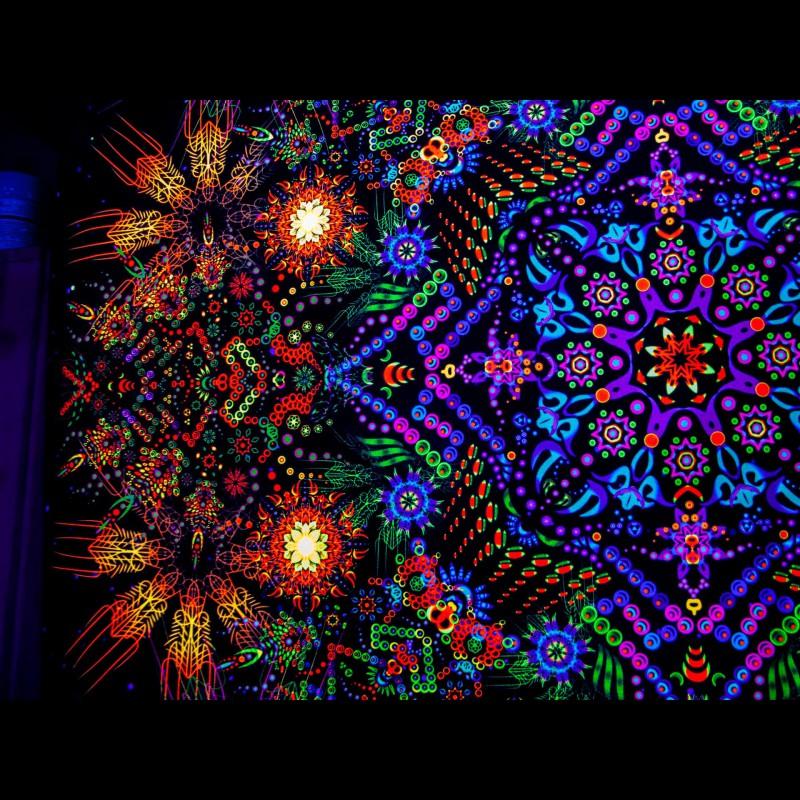 Esoteric meditative fluorescent backdrop «Observer»