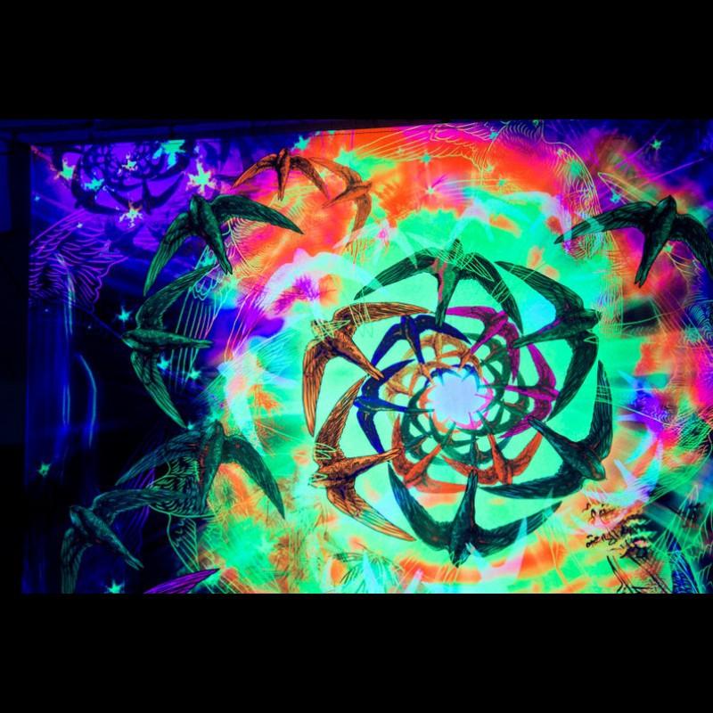Trippy Uv Wall Art «Freedom Wave»