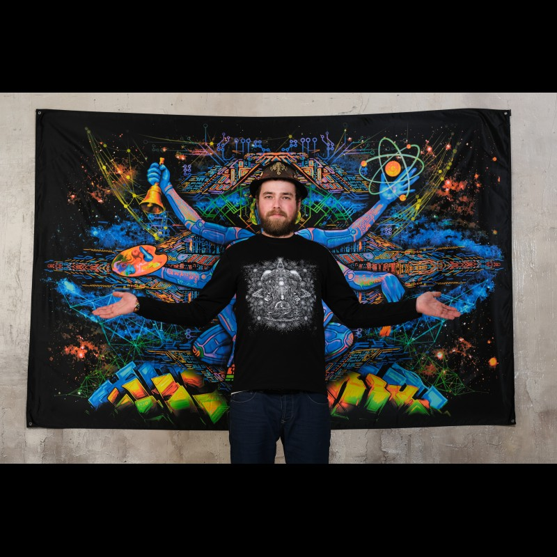 Psychedelic Trippy Sweatshirt Hoodie with Mandala