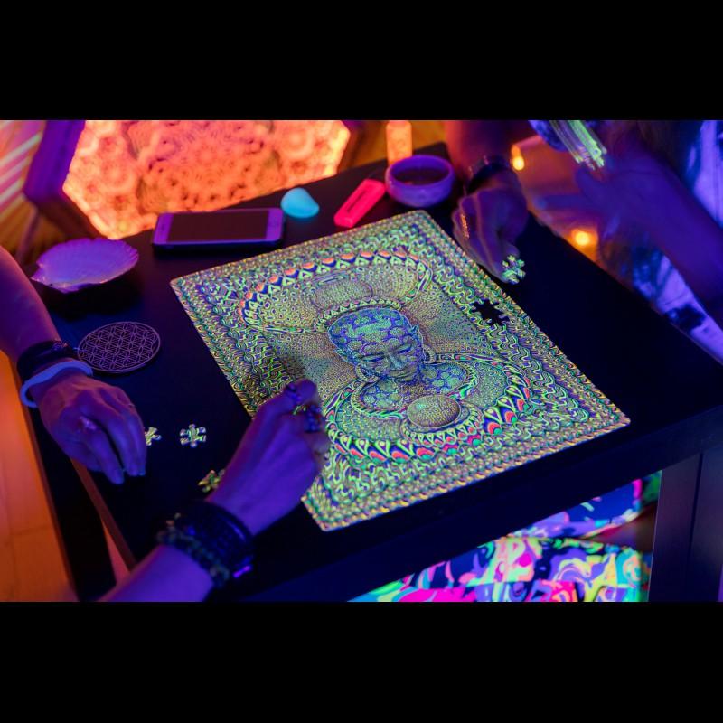 Psychedelic Space Meditation puzzle «Micro macro»