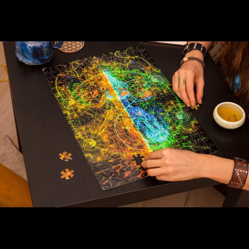 Esoteric fluorescent puzzle «Nataraja»